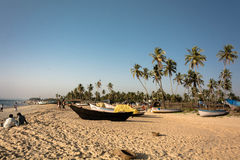 Tourists at beach in goa Royalty Free Stock Photo