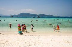 Tourists Beach phuket Stock Images