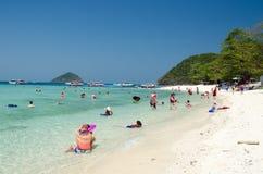 Tourists Beach phuket Royalty Free Stock Photo