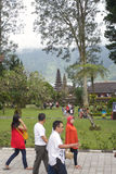 Tourists On Bedugul Bali Stock Image