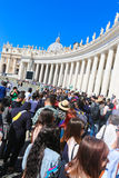 Tourists and believers in Vatican City, Italy Royalty Free Stock Images