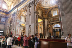 Tourists and Believers in Vatican City, Italy Stock Image