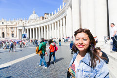 Tourists and believers in Vatican City Stock Photo