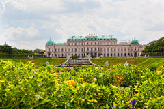 Tourists in the Belvedere, Vienna, Austria Stock Photography