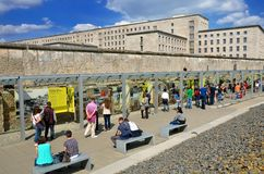Tourists in the Topography of Terror an open-door museum Stock Photo