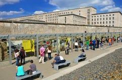 Tourists in the Topography of Terror an open-door museum Stock Photo