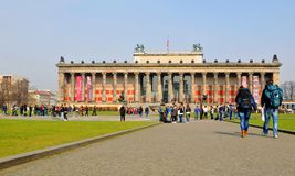 Tourists in Berlin, Germany stock images