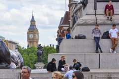 Tourists with Big Ben Royalty Free Stock Photography