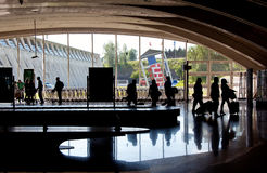 Tourists on Bilbao airport Stock Image