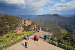 Tourists at Blue Mountain in New South Wales Royalty Free Stock Images