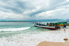 Tourists boarding boat island hopping Stock Photography