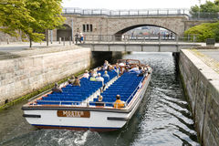 Tourists boat in Copenhagen Stock Photos