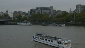 Tourists Boat on Thames River stock footage