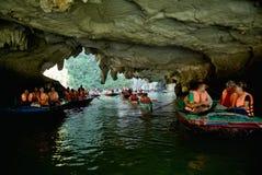 Tourists boats  of Ha Long Bay Vietnam Royalty Free Stock Photography