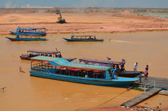 Tourists boats Stock Photos