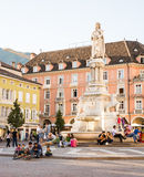 Tourists in Bolzano Stock Images