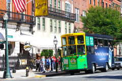 Tourists in Boston, MA Royalty Free Stock Photo