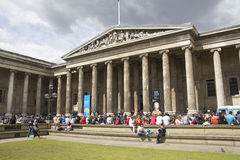 Tourists at the British Museum Stock Photography