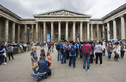 Tourists at the British Museum Royalty Free Stock Images