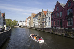Tourists in Bruges, Belgium Royalty Free Stock Image