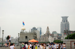 Tourists on The Bund Royalty Free Stock Photo