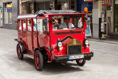 Tourists in a bus in Bratislava, Slovakia Royalty Free Stock Photos