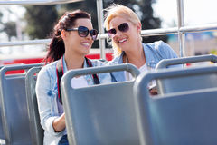 Tourists bus city Stock Image