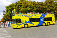 Tourists bus - PARIS Stock Photo