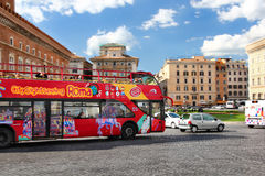Tourists bus in Rome Italy Stock Photo