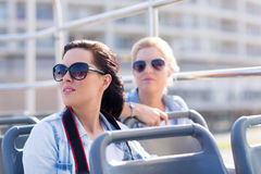 Tourists on bus Stock Image