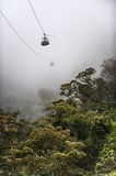 Tourists cable chairlift, Ecuador Stock Images