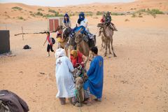 Tourists on the camel Royalty Free Stock Photos