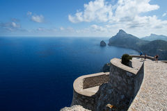 Tourists at Cape Formentor in the coast Stock Image