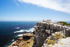 Tourists on cape of good hope. South africa Stock Photography