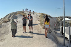 Tourists in Cappadocia Royalty Free Stock Image