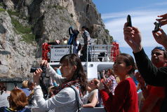 Tourists on Capri, Italy Royalty Free Stock Images