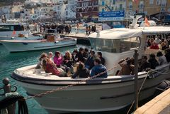 Tourists, Capri, Italy. Stock Photos