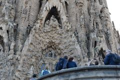 Tourists at the Cathedral. Barcelona. Spain Stock Image