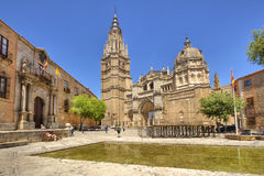 Tourists at the Cathedral of Toledo Stock Photos