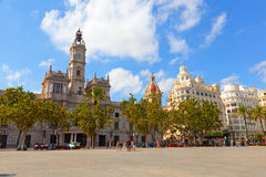 Tourists on a central square.Valencia Royalty Free Stock Images