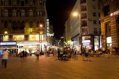 Tourists on a central square, Vienna, Austria Stock Photo