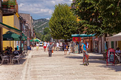 Tourists in Cetinje Royalty Free Stock Photography