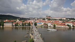 Tourists on Charles Bridge Stock Image