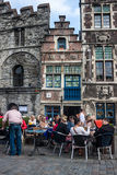 Tourists in city center of Gent Stock Photography