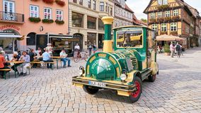 Tourists during a city in Quedlinburg Stock Images