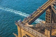 Tourists climbing the Sydney Harbour Bridge Royalty Free Stock Image