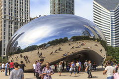 Tourists at the Cloud Gate Stock Photography