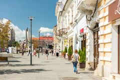 Tourists In Cluj Napoca Downtown Stock Images