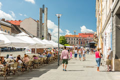 Tourists In Cluj Napoca Downtown Stock Image