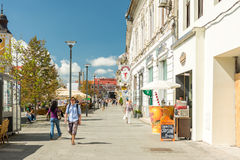 Tourists In Cluj Napoca Downtown Royalty Free Stock Photo